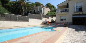 This detached holiday home with a private swimming pool is located in Lescala. The holiday residence is comfortably furnished and has a kitchen and a patio.