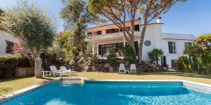 This villa  is located in Costa Brava, St. Antoni de Calonge in Spain.