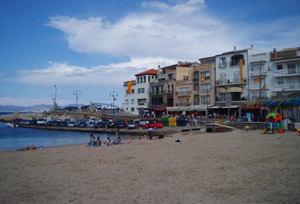Beach and l'Escala Port