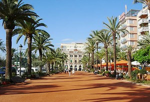 Seaside boulevard in Lloret de Mar